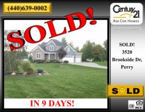 3520 Brookside Drive Perry OH Home SOLD