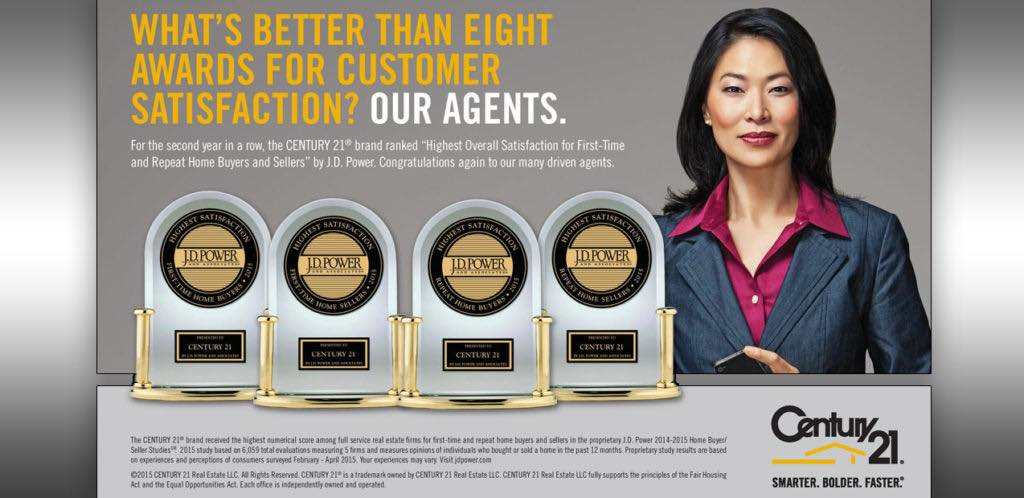 CENTURY 21 Real Esate LLC Customer Satisfaction JD Power Awards